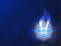 Blue vector background - disco ball Royalty Free Stock Images