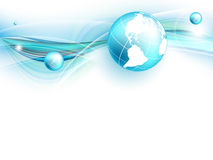Blue vector background with globe. Eps10 Royalty Free Stock Images
