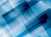 Blue vector background with rectangles Stock Images