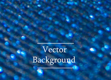 Blue vector background with sparkles and bokeh Royalty Free Stock Photo