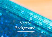 Blue vector background with sparkles and bokeh. Holidays shining background royalty free illustration