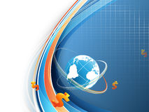 Blue Vector Background With Globe Royalty Free Stock Photo