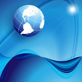Blue Vector Background With Globe. Eps10 Stock Photos