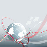 Blue Vector Background With Globe. Eps10 Royalty Free Stock Photos