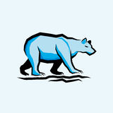 Blue Vector Bear Royalty Free Stock Images