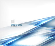 Blue vector blur motion lines business template. This is file of EPS10 format Royalty Free Stock Photo