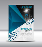 Blue Vector brochure flyer and cover template polygon vector ill Stock Image
