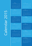 Blue vector calendar 2015 Royalty Free Stock Photos