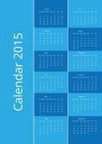 Blue vector calendar 2015. Dark and light blue vector calendar 2015 Royalty Free Stock Photos