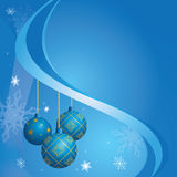 Blue vector card for christmas holidays Royalty Free Stock Image