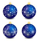 blue vector christmas balls Royalty Free Stock Photography