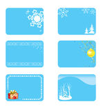 Blue vector christmas cards with decorations Royalty Free Stock Photography