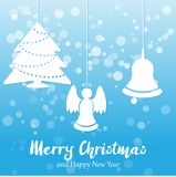 Blue Vector Christmas and New year background royalty free stock photo