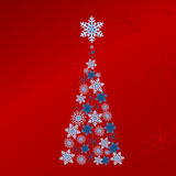 Blue vector Christmas tree Royalty Free Stock Photos