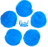 Blue vector  circlemarker stains set Royalty Free Stock Photos