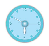 Blue vector clock Royalty Free Stock Photography
