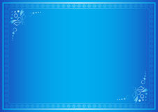 Blue vector elegant frame with gradient Royalty Free Stock Photo