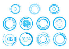 Blue vector elements on white background Royalty Free Stock Photo