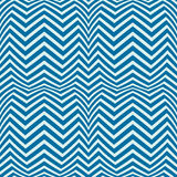 Blue vector endless pattern created with thin undulate stripes, Royalty Free Stock Photography