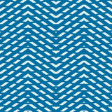 Blue vector endless pattern created with thin zigzag stripes, se vector illustration