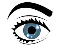 Blue vector eye Royalty Free Stock Images