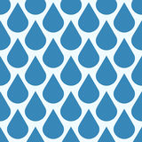 Blue vector falling water drops seamless pattern Royalty Free Stock Image