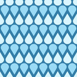 Blue vector falling water drops seamless pattern Royalty Free Stock Photos