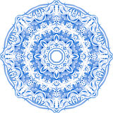 Blue vector floral ornament circle Stock Photos