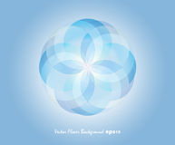 Blue Vector Flover Background Stock Photos