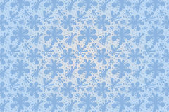Blue vector flowers seamless pattern for illustrator. Additional file consists of pattern with background and the same pattern without background vector illustration