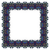 Blue vector frame. Isolated square element. Royalty Free Stock Photography