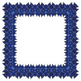 Blue vector frame.  square element. Royalty Free Stock Images