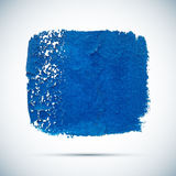 Blue vector grunge paint spot with shadow Royalty Free Stock Photography