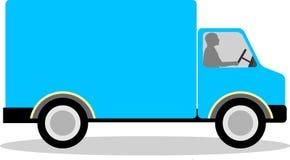 Blue Vector Hauling or Delivery Van - Copyspace Stock Image