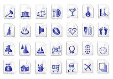 Blue vector icons Royalty Free Stock Photos