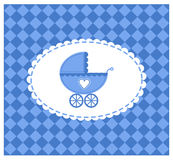 Blue vector illustration of a baby Royalty Free Stock Photo