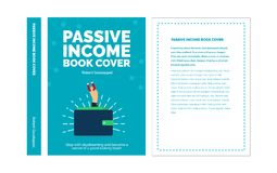 Blue Vector Investing Book About Passive Income. With A Businessman Holding A Magnet From His Wallet Attracting Coins Stock Photography