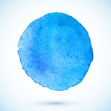 Blue vector isolated watercolor paint circle Stock Photo