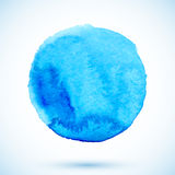 Blue vector isolated watercolor painted circle Stock Image