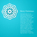 Blue vector layout with white paper snowflake for Stock Photo