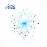 Blue vector logo element Royalty Free Stock Image