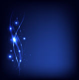 Blue vector neon stardust background� Royalty Free Stock Photos