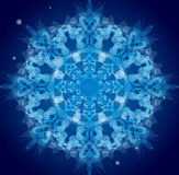 Blue vector ornament Royalty Free Stock Photography