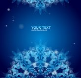 Blue vector ornament for text Royalty Free Stock Image
