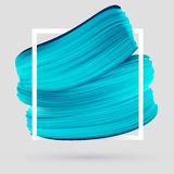 Blue vector paint brush smear on white background Royalty Free Stock Photography