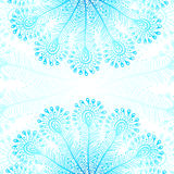 Blue vector peacock feathers background stock illustration