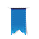 Blue vector ribbon Stock Photos