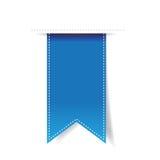 Blue vector ribbon Stock Photos