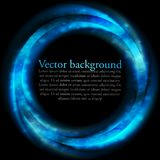 Blue vector ring on black backdrop Royalty Free Stock Photo
