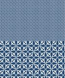 Blue vector seamless pattern inspired by azulejos design stock illustration